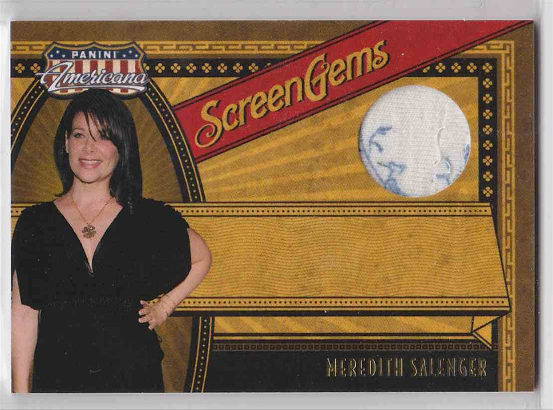 2011 Panini Americana Screen Gems Materials Meredith Salenger #9 card front image