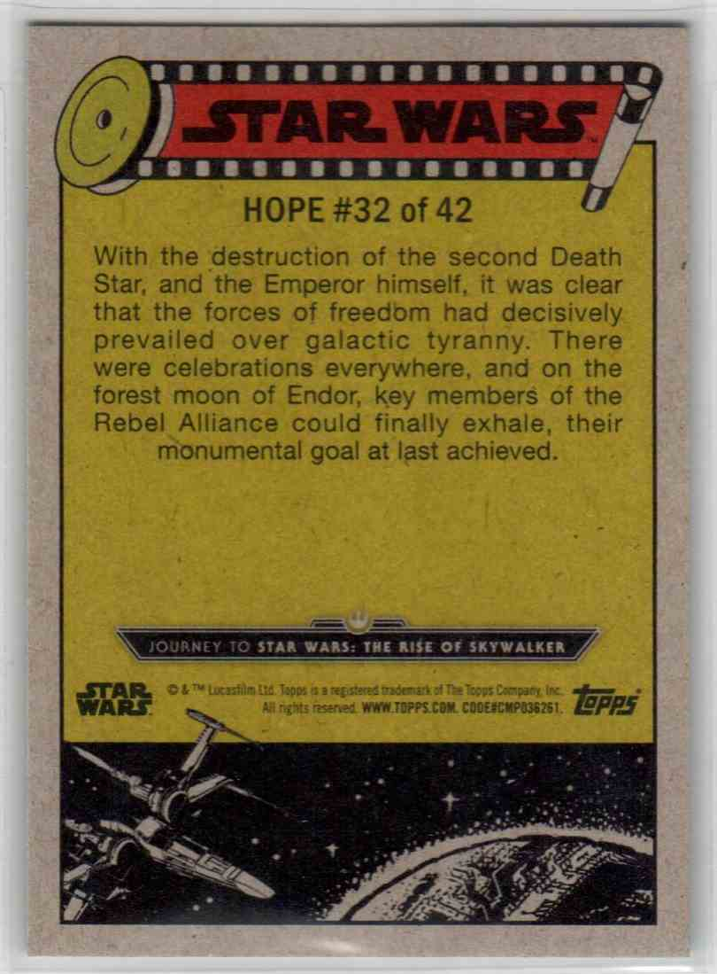 2019 Topps Star Wars Journey To Rise Of Skywalker The Galaxy Reborn #32 card back image