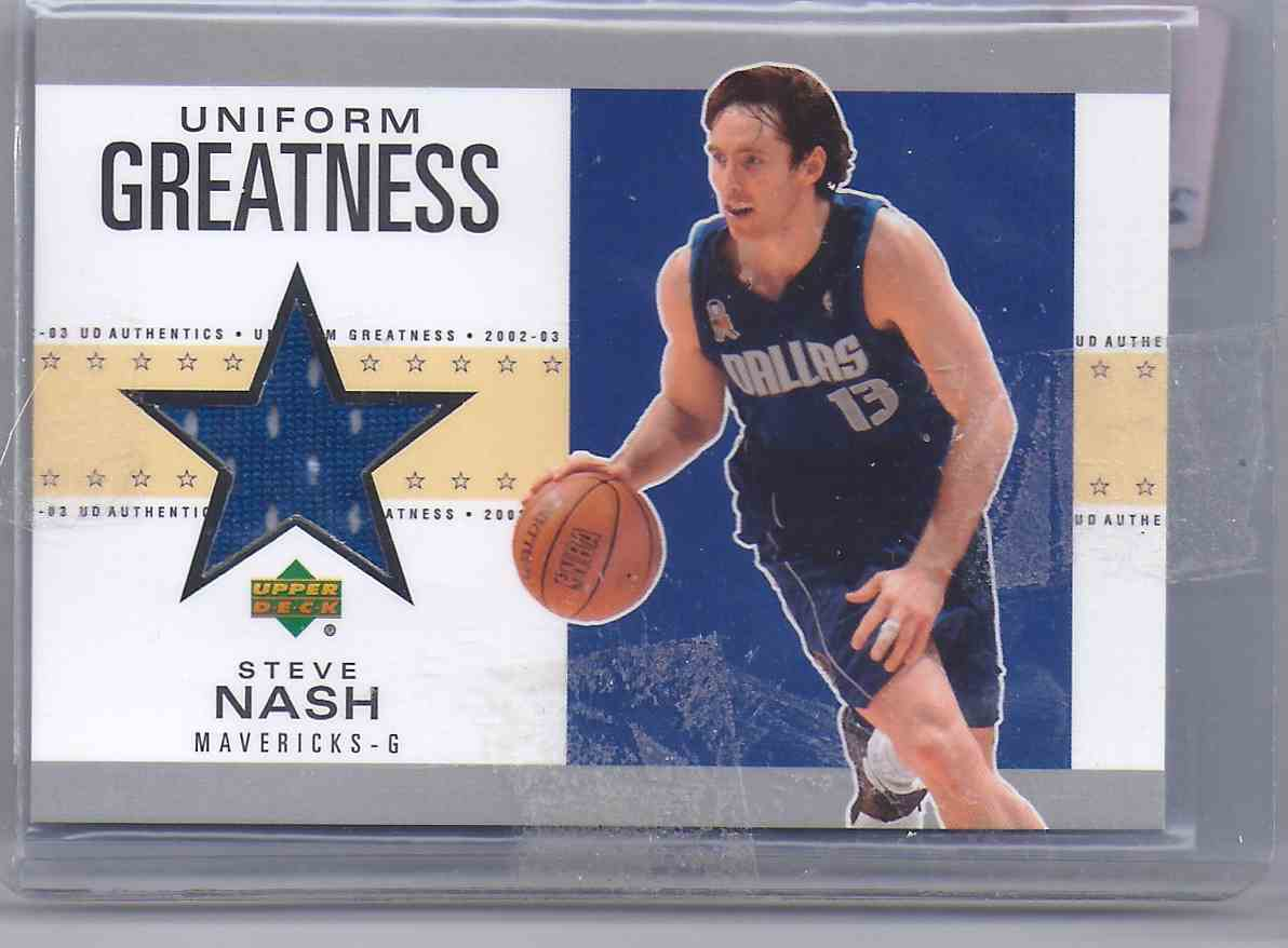 2002-03 Upper Deck Uniform Greatness Steve Nash #SNU card front image