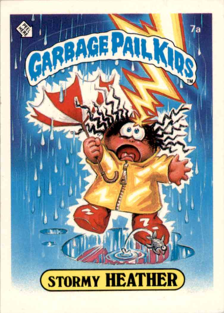 1985 Garbage Pail Kids Series 1 Stormy Heather Juvenile Delinquency Award Back #7A card front image