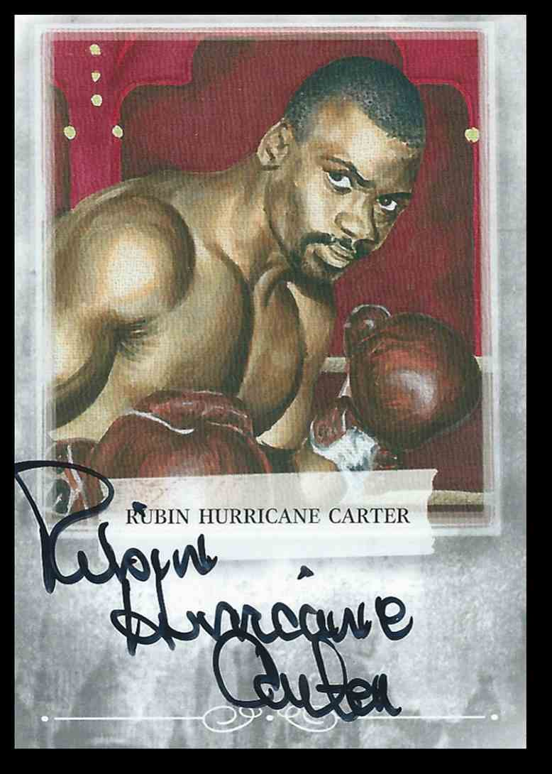 "2009 Sport Kings Boxing Champs Rubin ""Hurricane"" Carter #ARHC2 card front image"