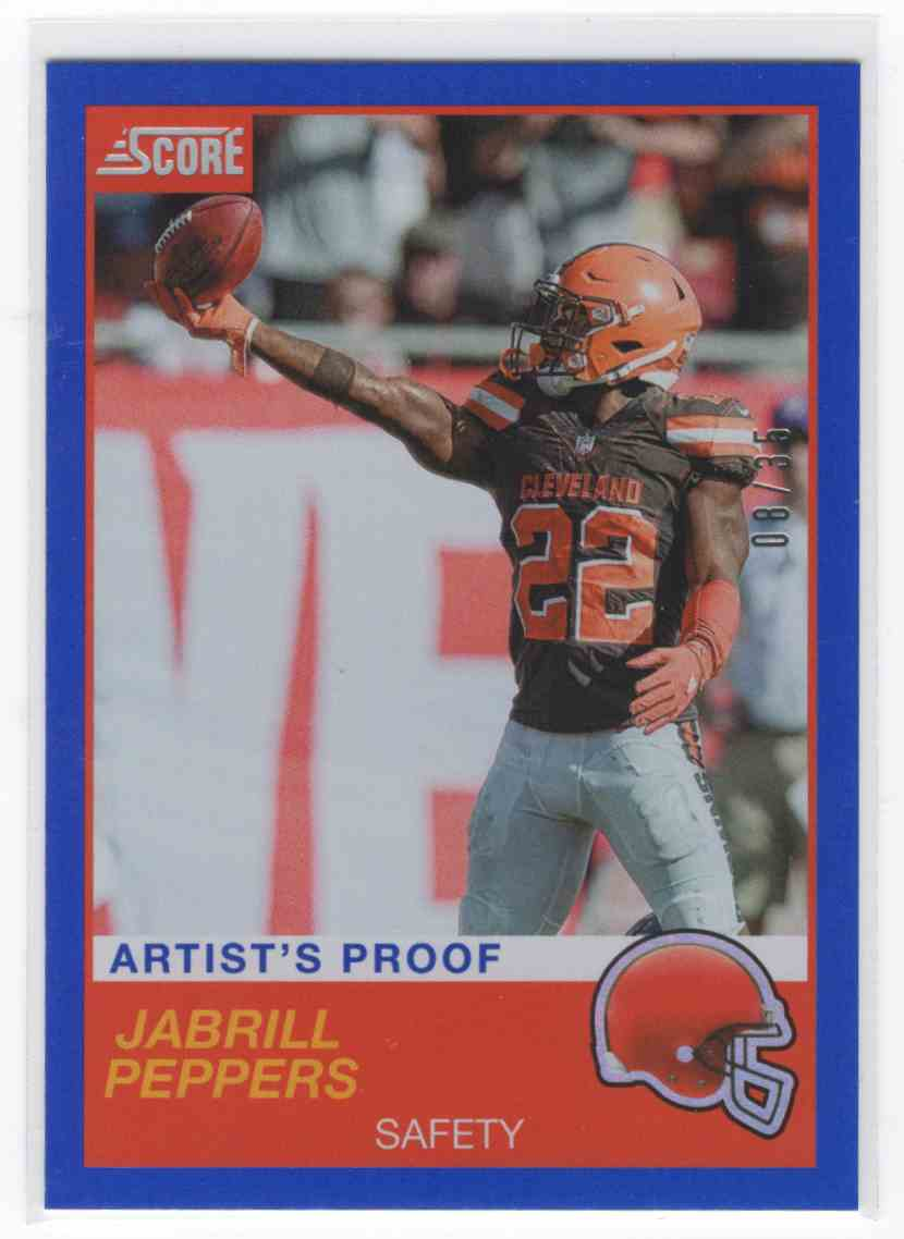 2019 Panini Score Jabrill Peppers #110 card front image