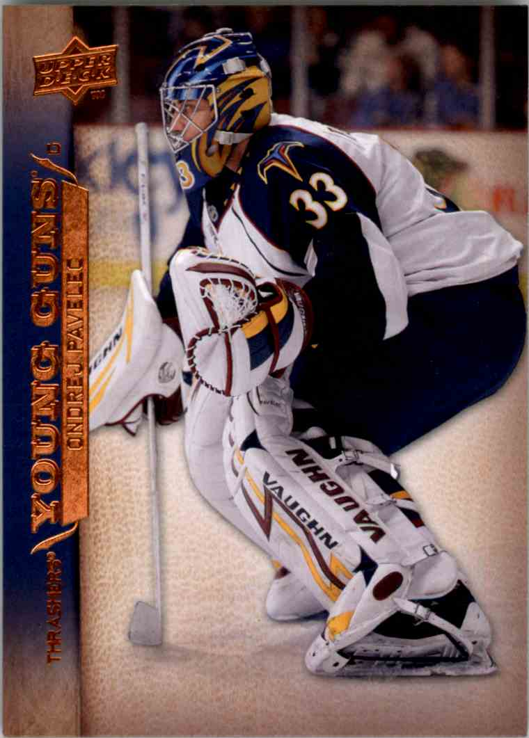2007-08 Upper Deck Young Guns Yg Ondrej Pavelec #453 card front image