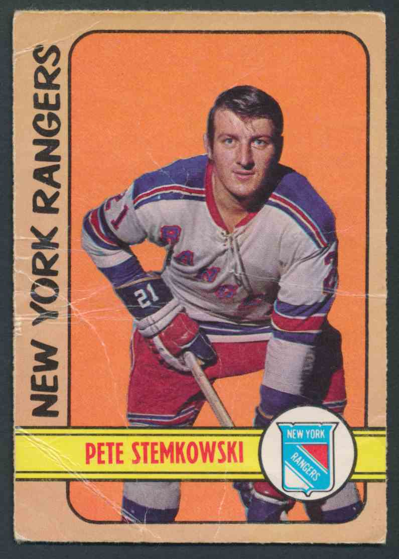 1972-73 O-Pee-Chee Pete Stemkowski #78 card front image