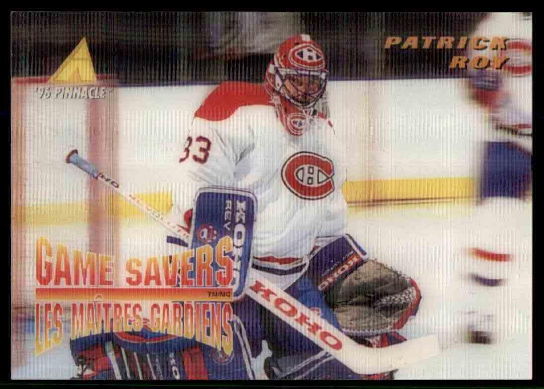1995-96 Pinnacle Patrick Roy #MCD-25 card front image
