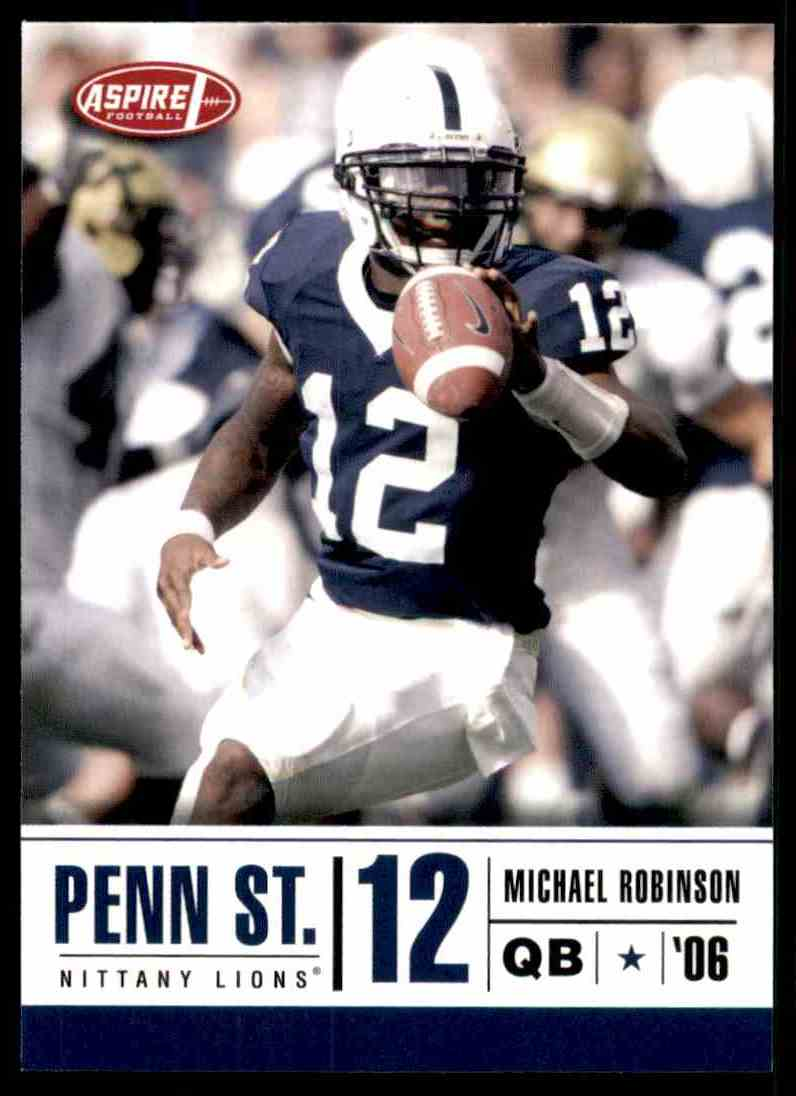 2006 Aspire Michael Robinson #12 card front image