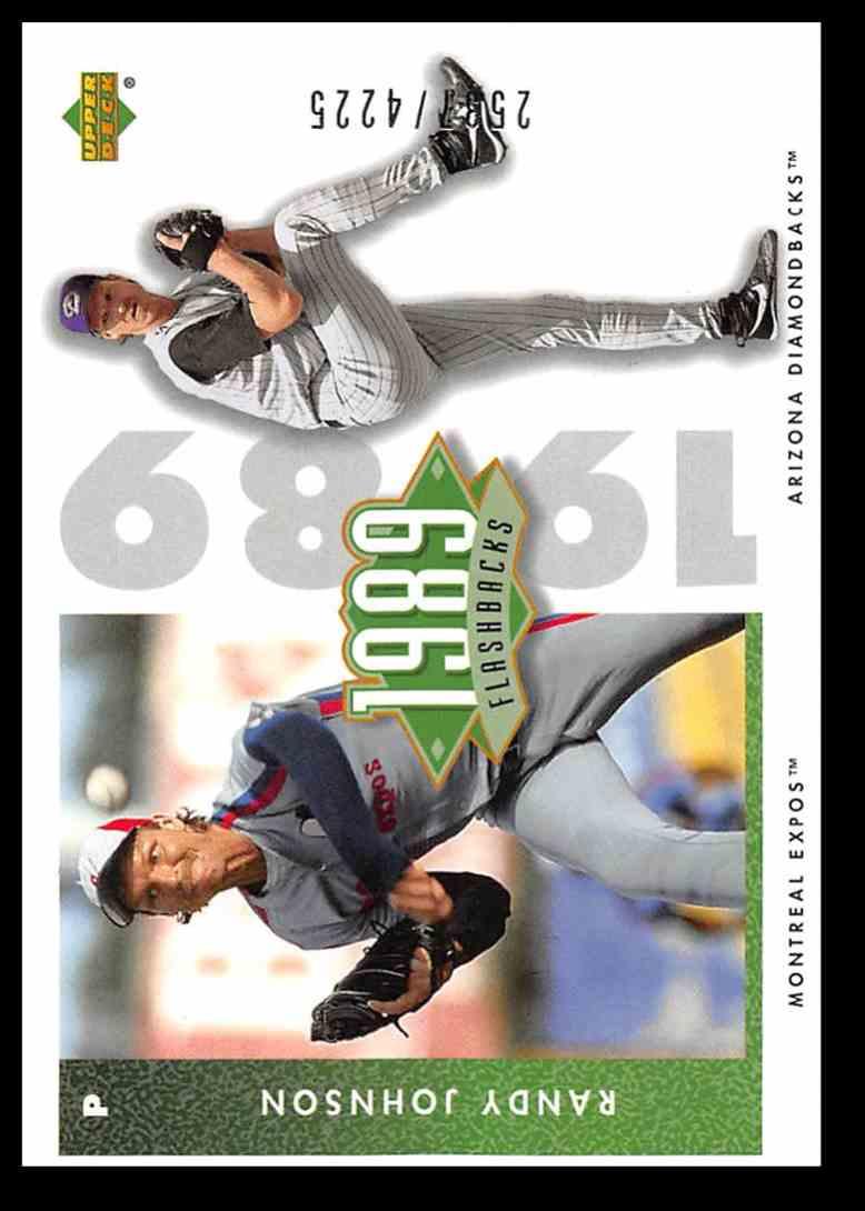 2002 Upper Deck Authentics Flashbacks Randy Johnson #F3 card front image