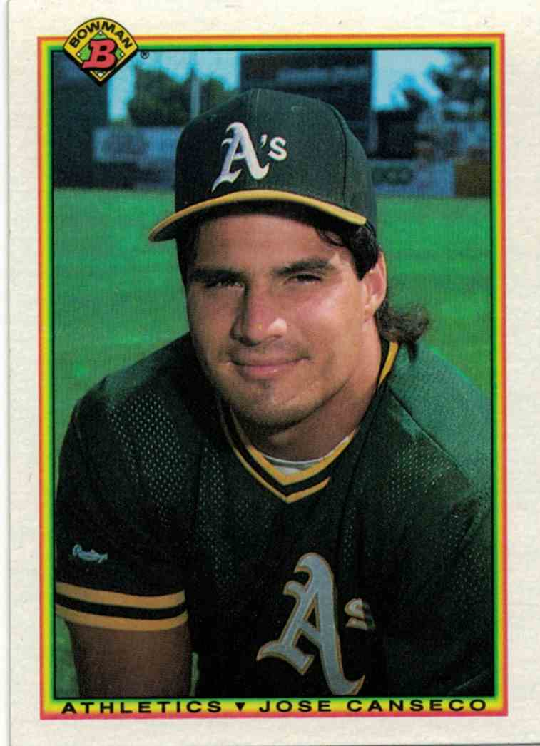 1990 Bowman Jose Canseco #460 card front image