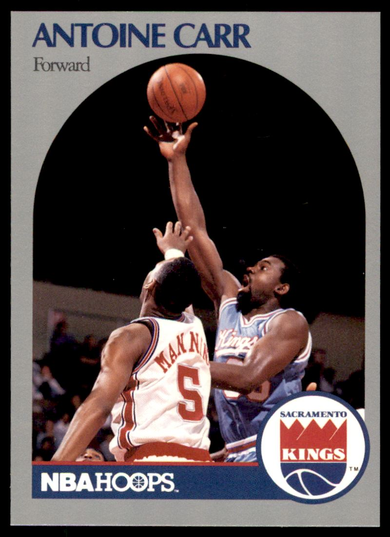 1990 91 Nba Hoops Antoine Carr 255 on Kronozio