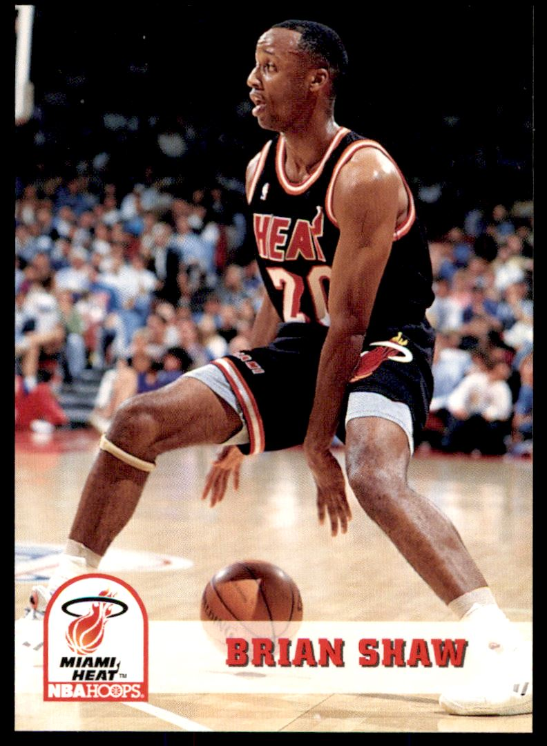 1993-94 hoops Brian K Shaw #117 card front image
