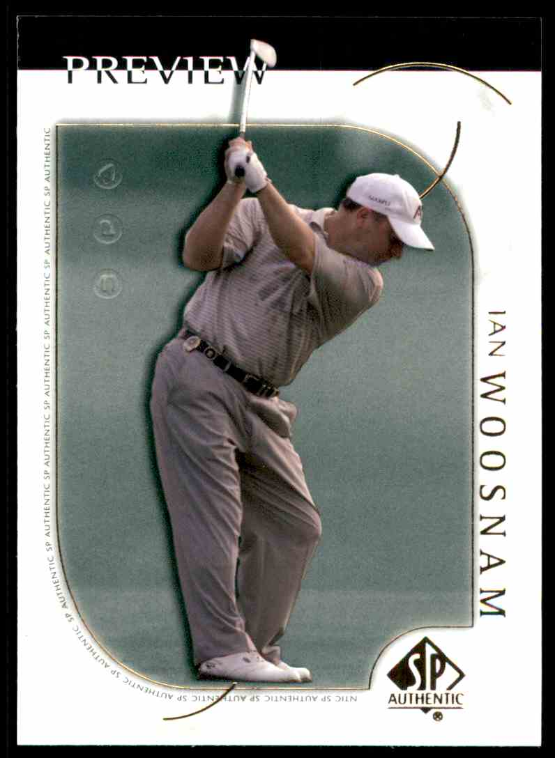 2001 SP Authentic Preview Ian Woosnam #2 card front image