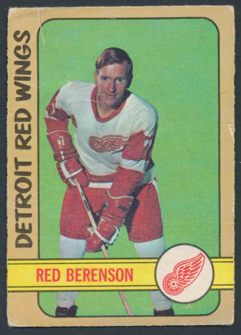 1972-73 O-Pee-Chee Red Berenson card front image