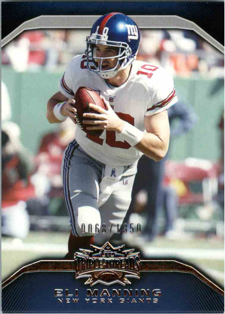 2010 Topps Triple Threads Eli Manning #50 card front image