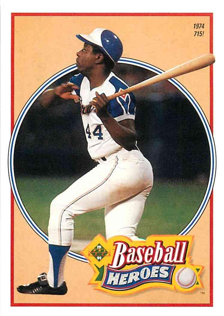 1992 Upper Deck Baseball Heroes Hank Aaron 23 Of 27 On Kronozio