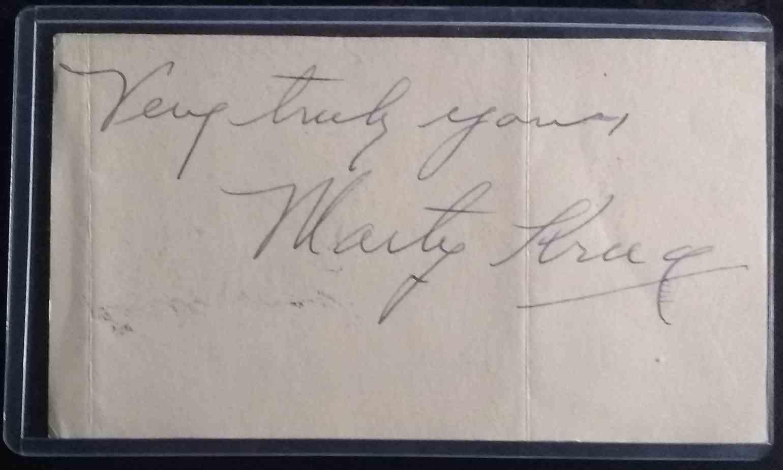 1912 3X5 Sheet Marty Krug card back image
