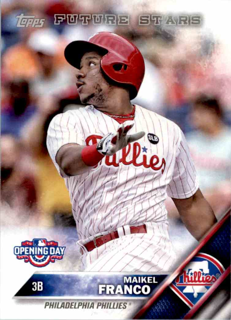 2016 Topps Opening Day Maikel Franco Fs Od 81 On