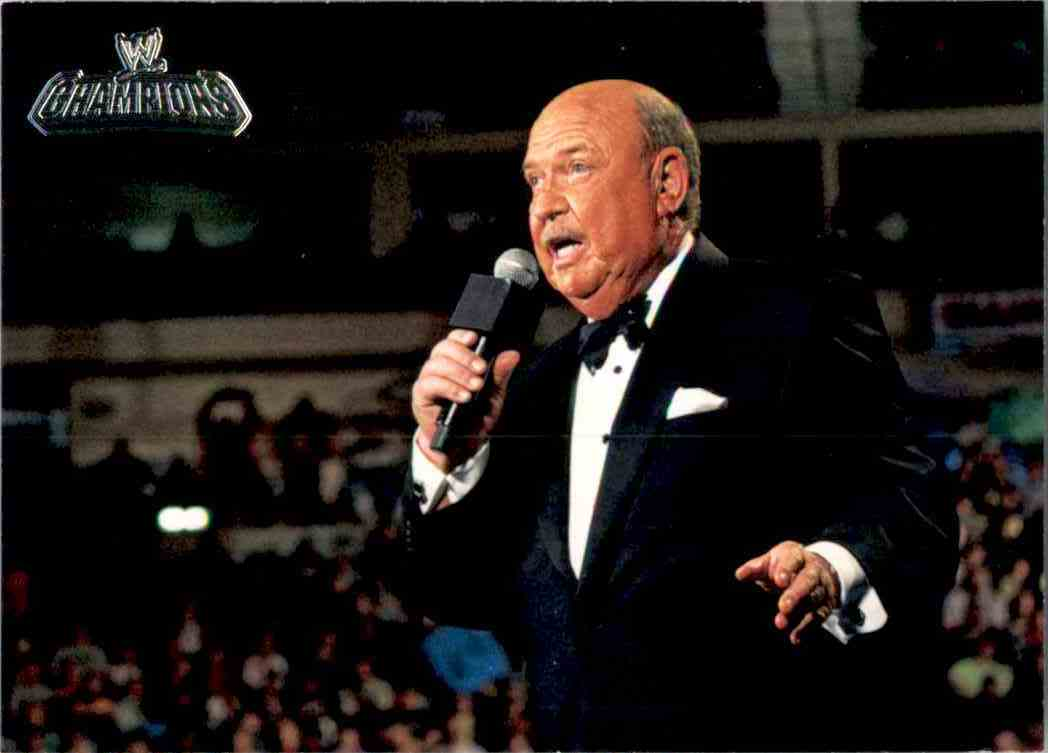 """2011 Topps Wwe Champions """"Mean"""" Gene Okerlund #67 card front image"""