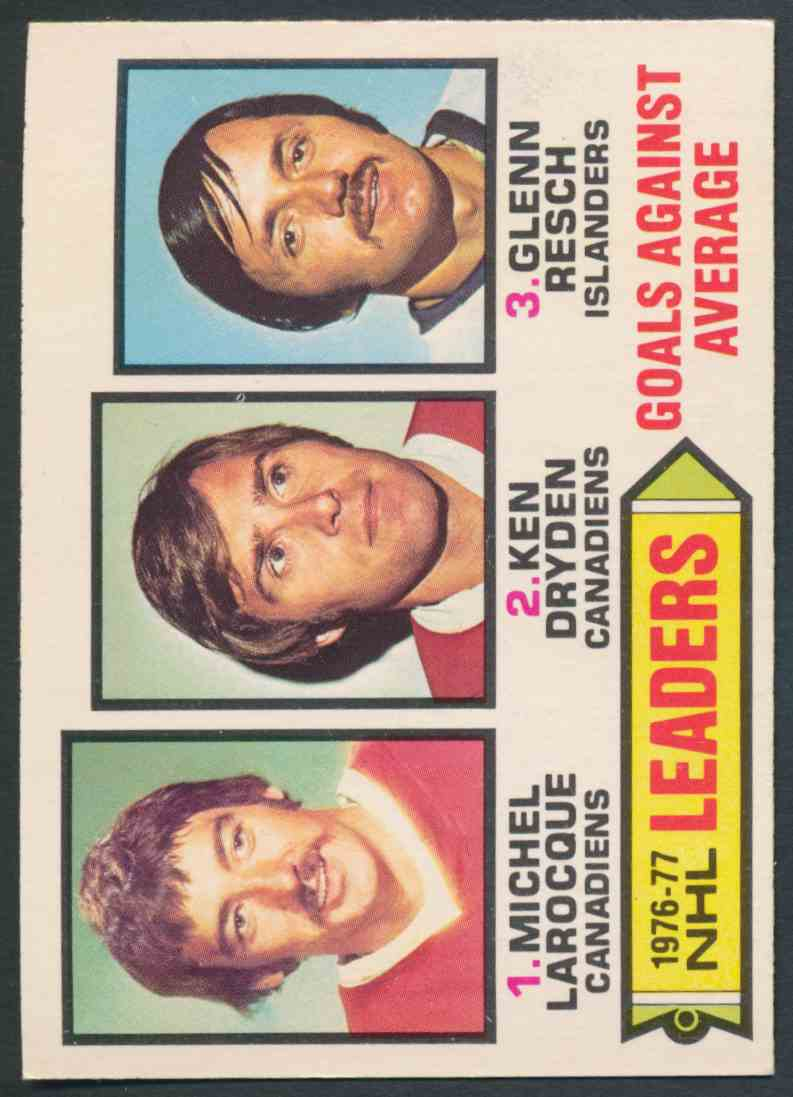 1977-78 O-Pee-Chee Goals Against Average Leaders #6 card front image