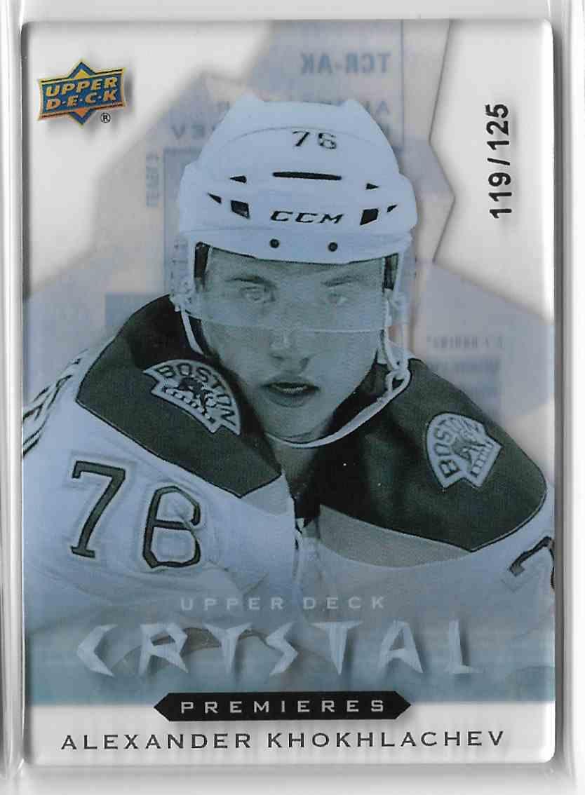 2014-15 Upper Deck Trilogy Crystal Rookies Alexander Khokhlachev #TCR-AK3 card front image