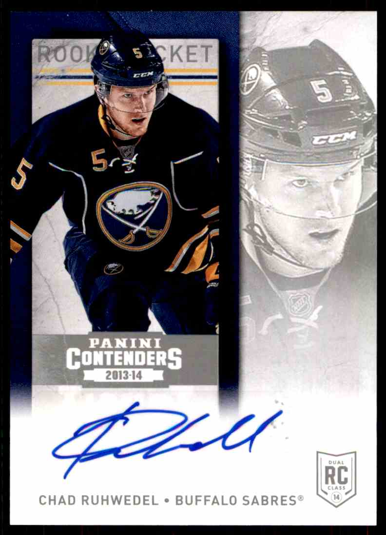 2013-14 Panini Contenders Chad Ruhwedel #279 card front image