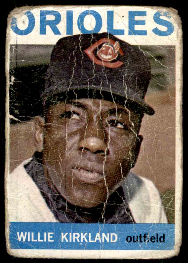 1964 Topps Willie Kirkland #17 card front image