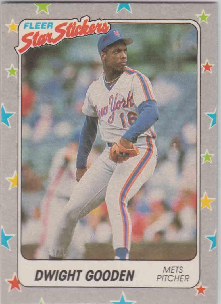 1988 Fleer Star Stickers Dwight Gooden 102 On Kronozio