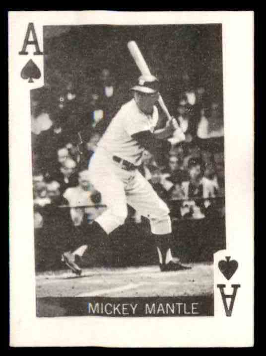 1969 Globe Imports Mini Playing Cards Mickey Mantle card front image