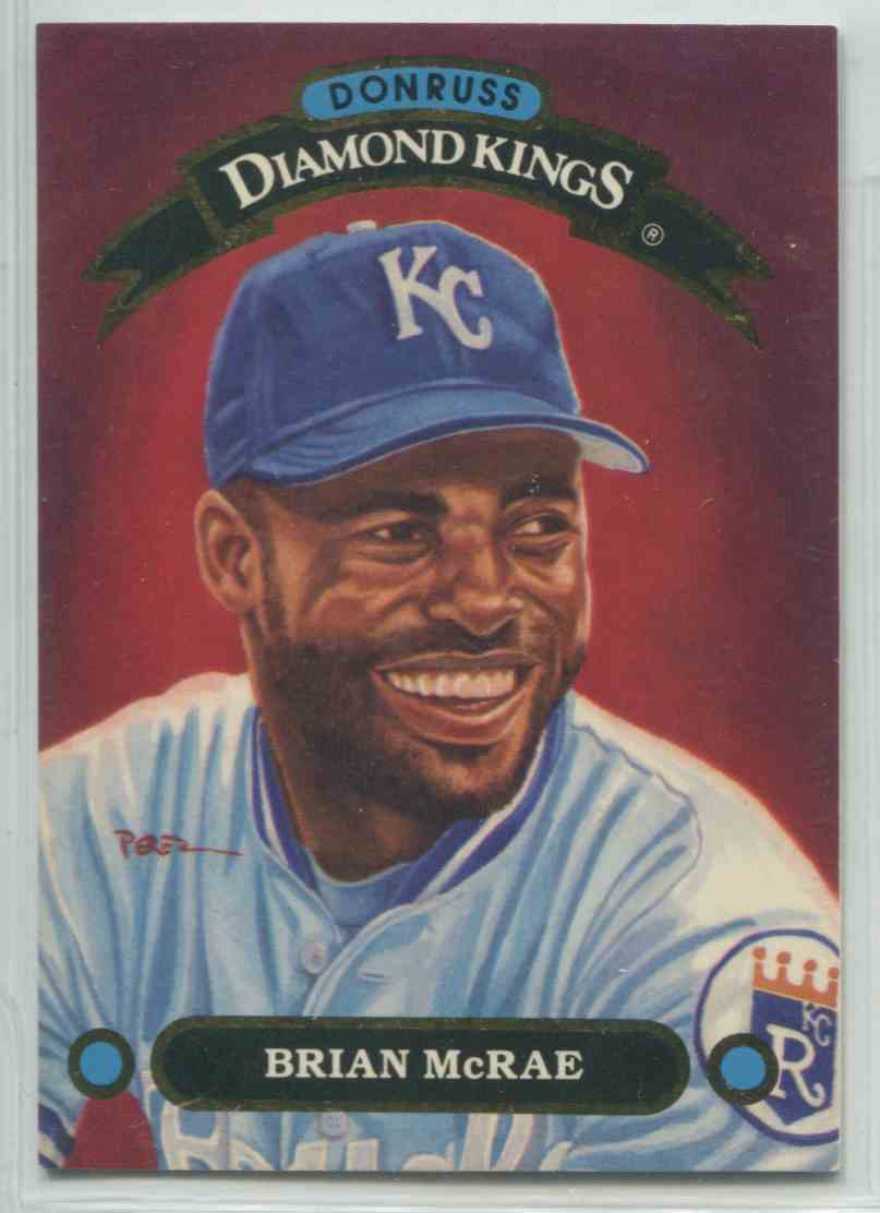 1991 Donruss Diamond Kings Brian Mcrae Dk16 On Kronozio