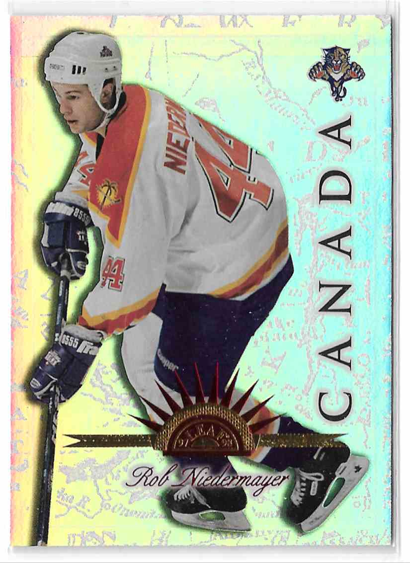 1997-98 Leaf International Universal Ice Rob Niedermayer #58 card front image