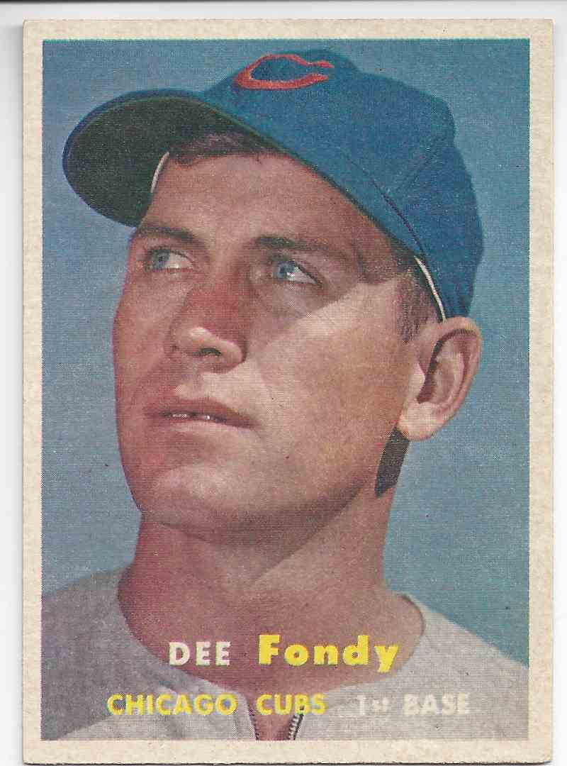 1957 Topps Dee Fondy #42 card front image