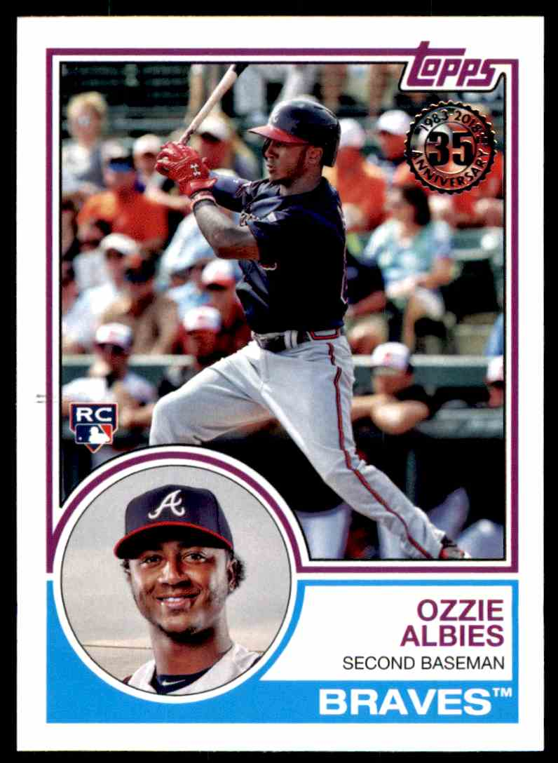 2018 Topps Series 1 1983 Insert Ozzie Albies #40 card front image