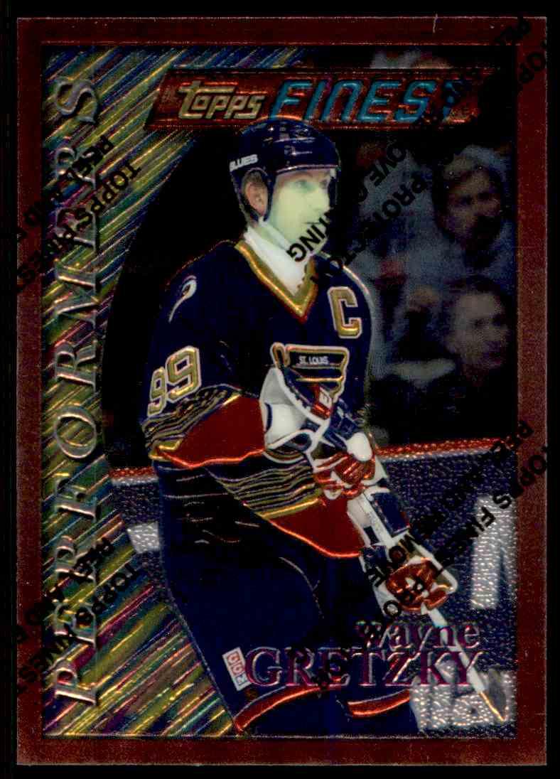 1995-96 Topps Finest Wayne Gretzky #5 card front image