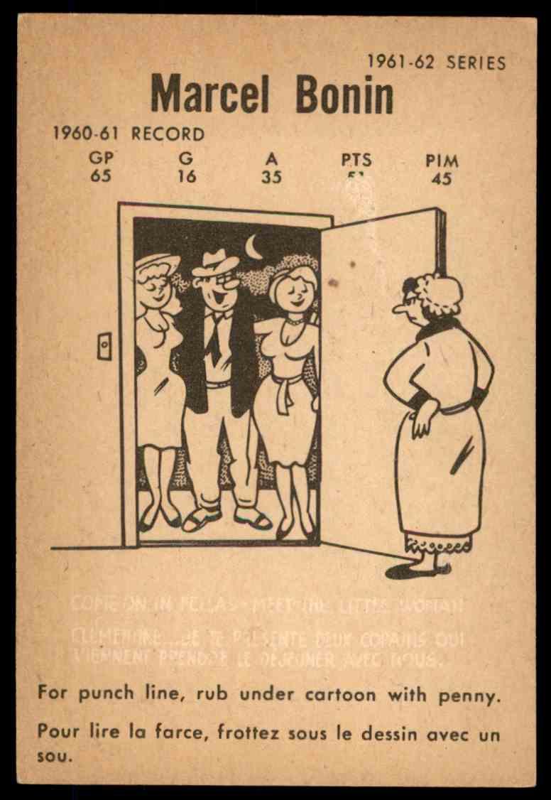 1961-62 Parkhurst Marcel Bonin #47 card back image