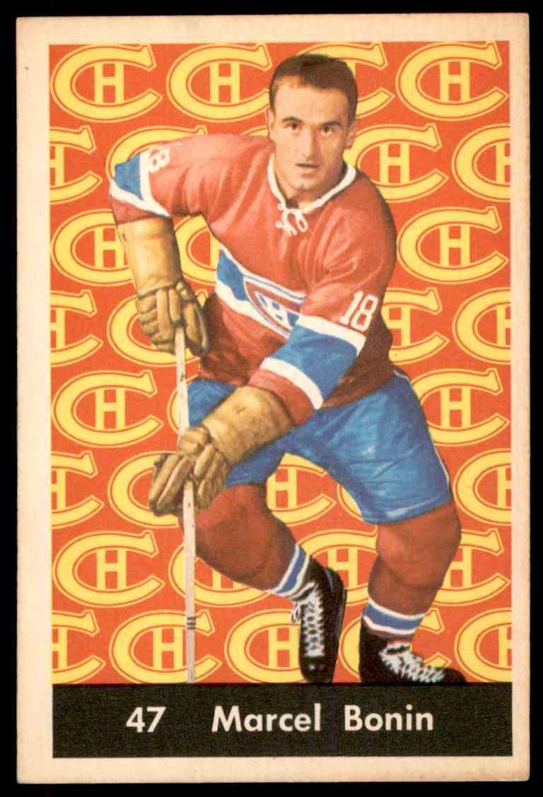 1961-62 Parkhurst Marcel Bonin #47 card front image