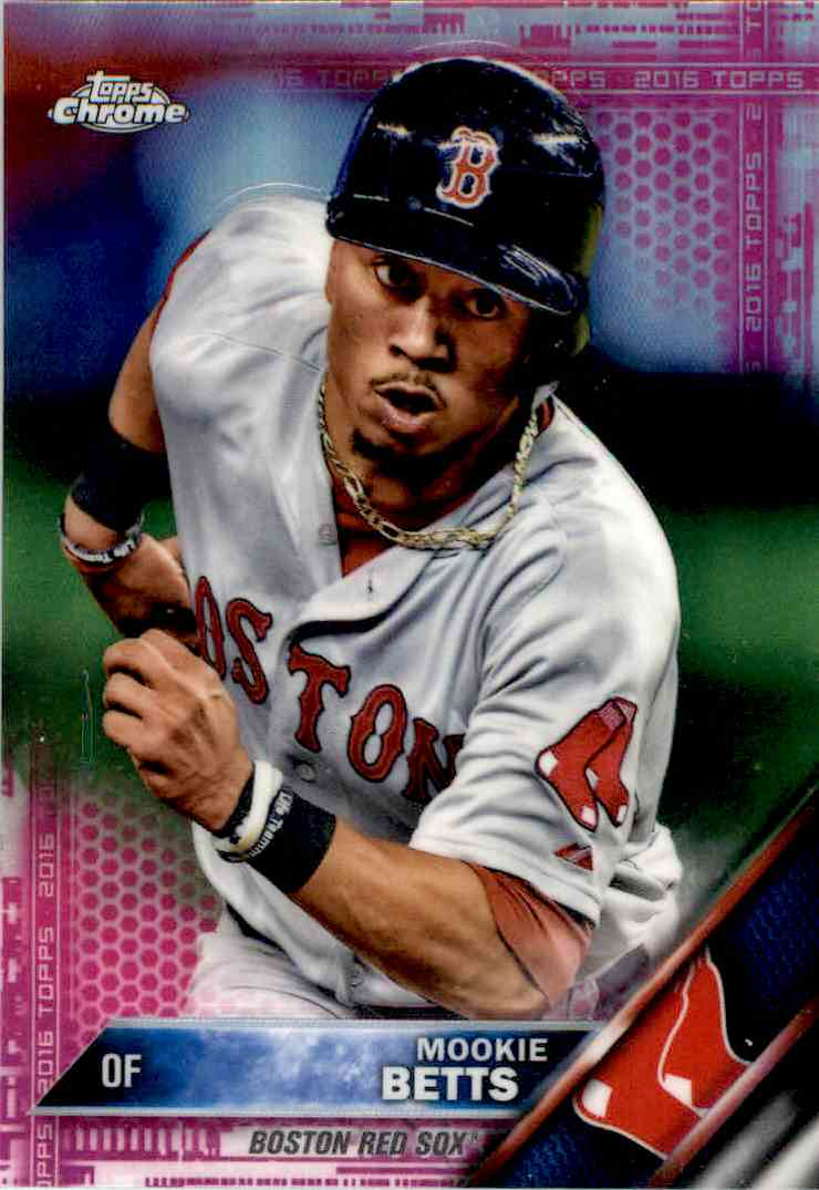 2016 Topps Chrome Mookie Betts Pink 161 On Kronozio