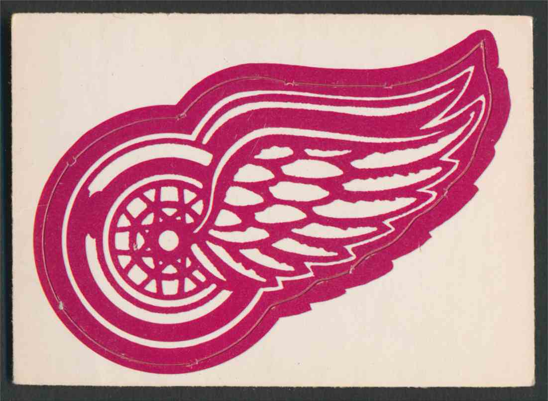 1972-73 O-Pee-Chee Detroit Red Wings Logo card front image
