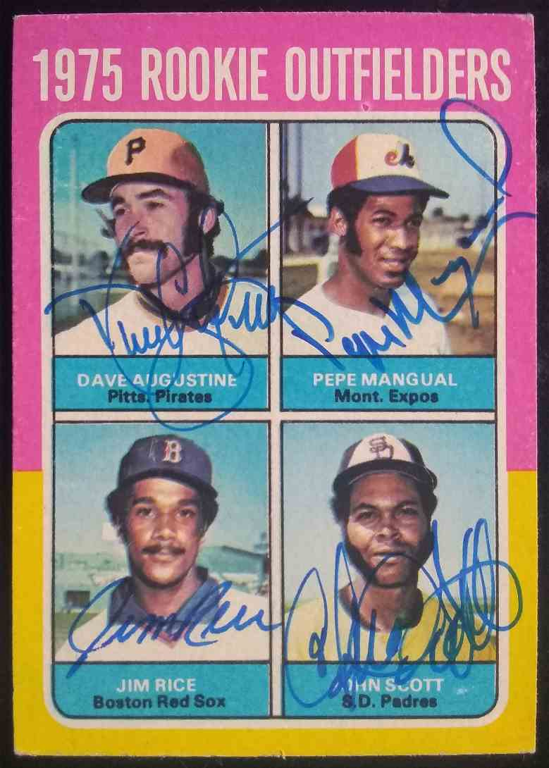 1975 Topps Jim Rice Dave Augustine Pepe Mangual John Scott #616 card front image