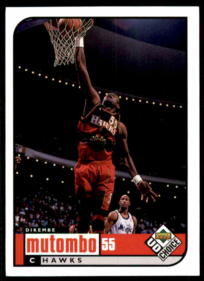 1998-99 UD Choice Dikembe Mutombo #1 card front image