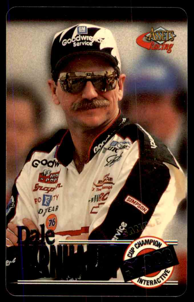 1996 Assets Racing $1,000 Cup Champion Phone Cards Promo Dale Earnhardt #1 card front image