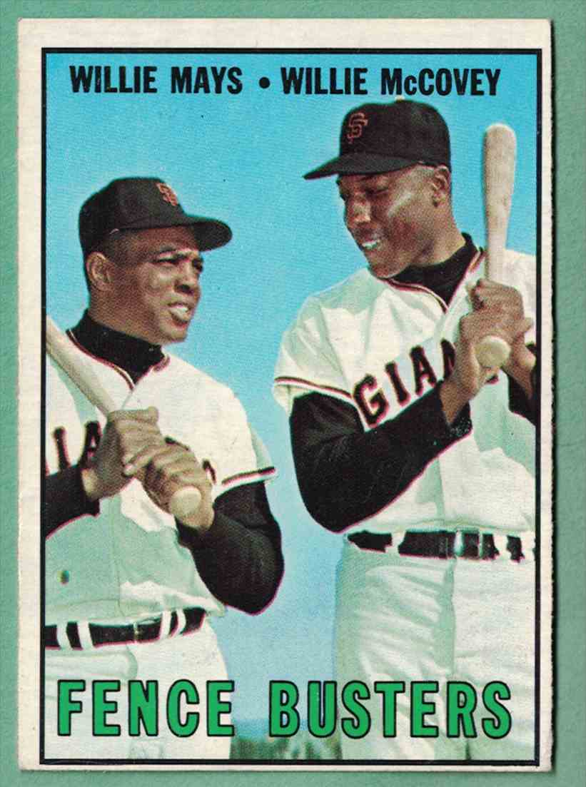 1967 Topps Willie McCovey EX surface scratch #423 card front image
