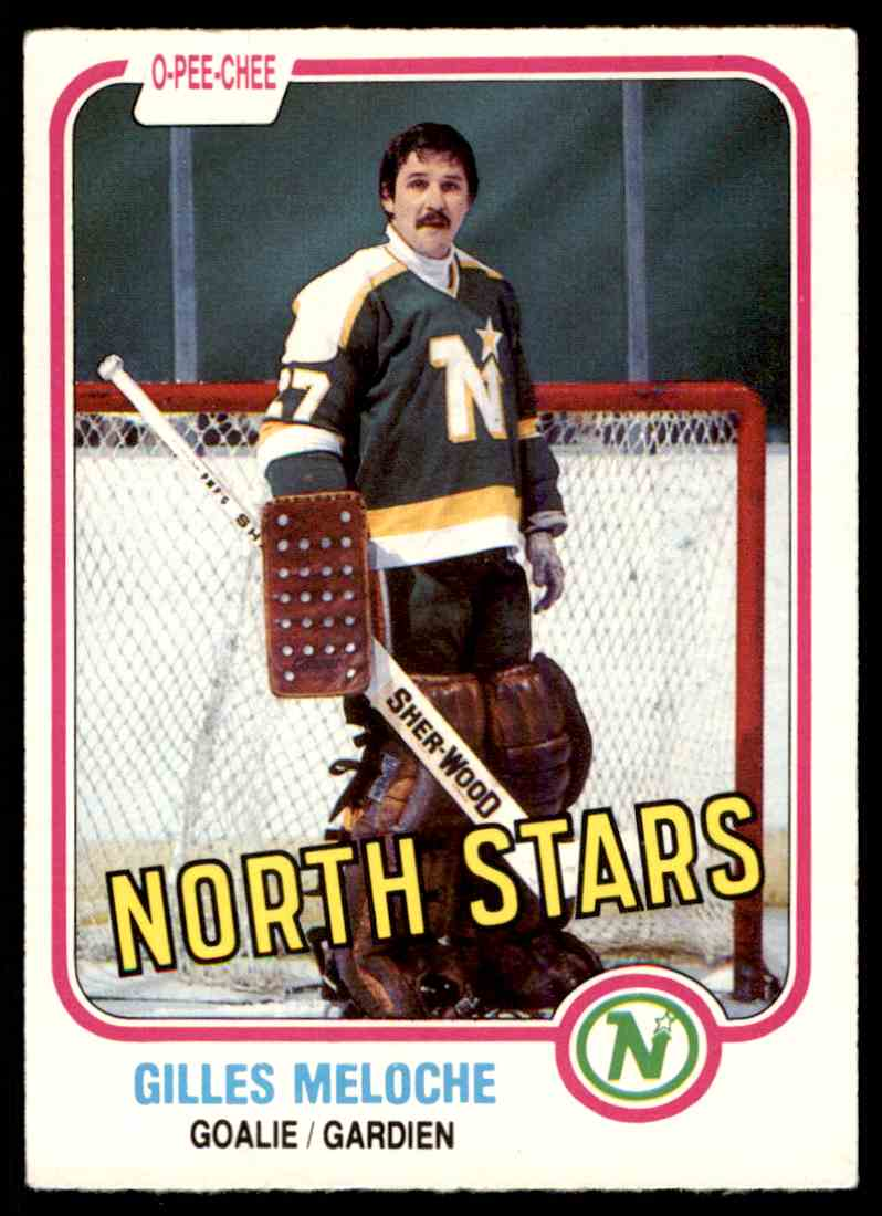 1981-82 O-Pee-Chee Gilles Meloche #165 card front image