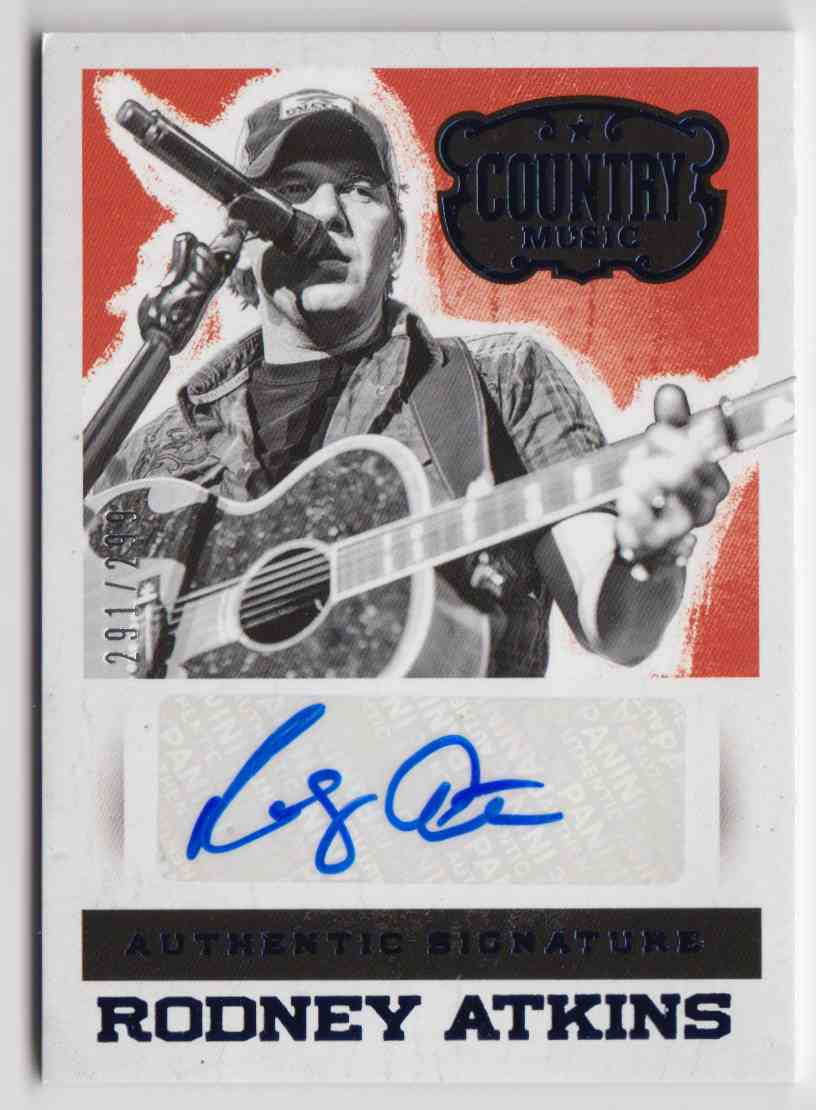 2014 Panini Country Music Blue Rodney Atkins #S-RA card front image
