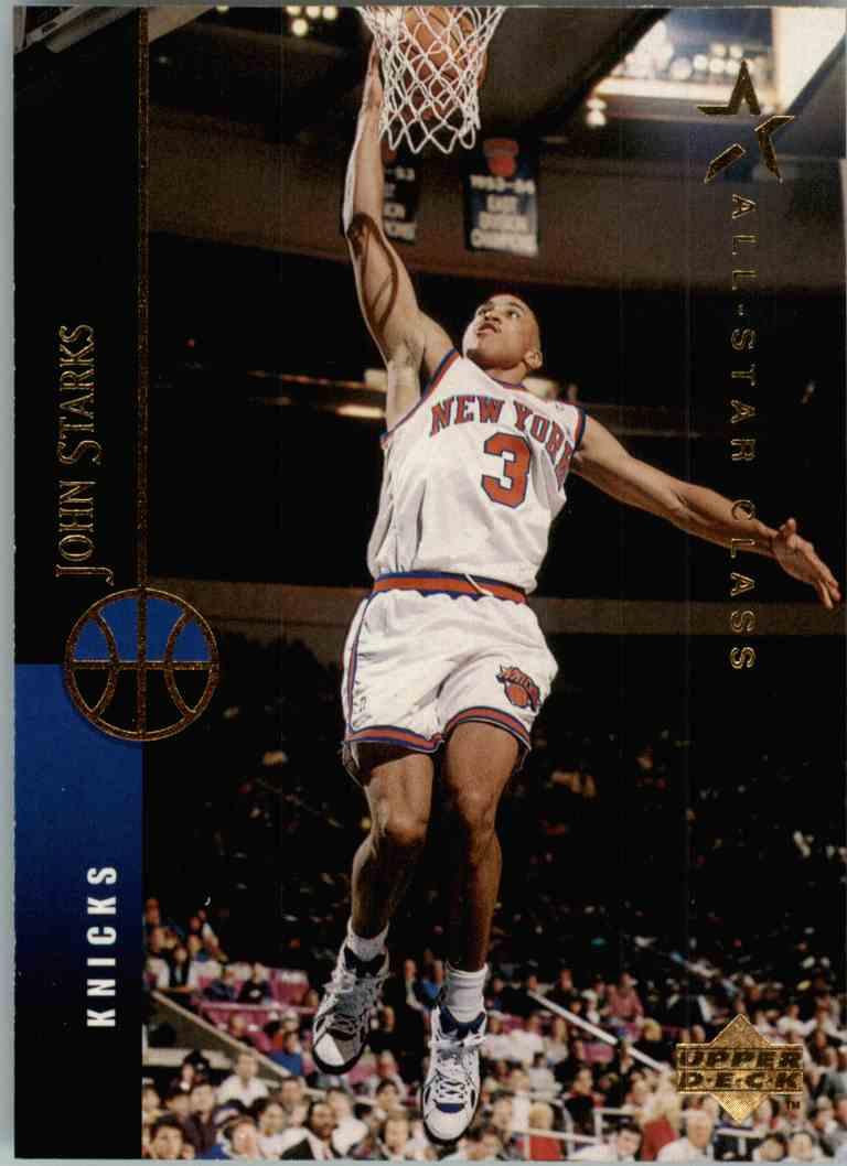 1994 95 Upper Deck All Star Class John Starks 265 on Kronozio