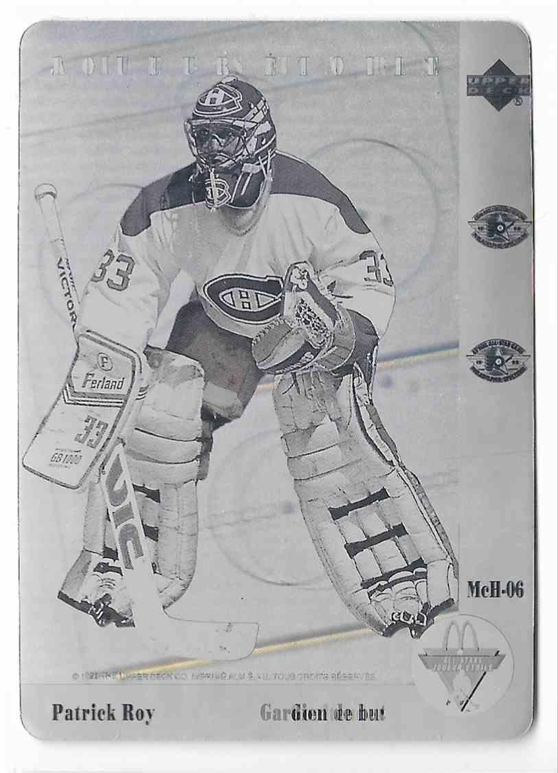 1991-92 Upper Deck McDonalds Patrick Roy #MCH-06 card front image