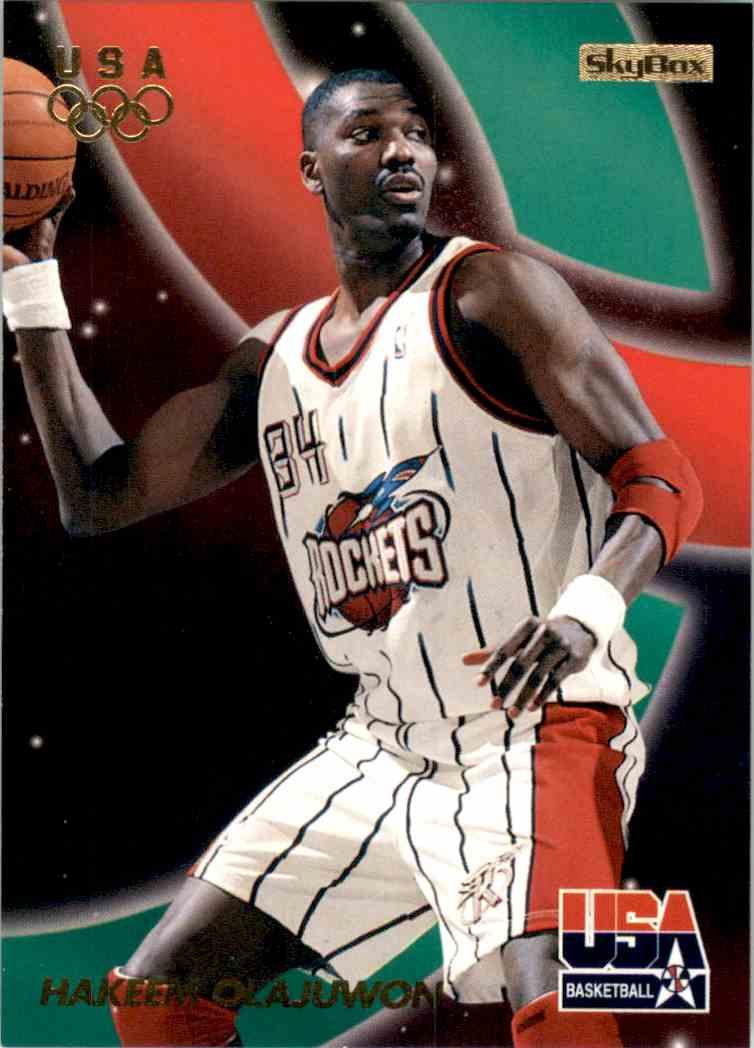 1996-97 SkyBox USA Hakeem Olajuwon Gs #6 card front image