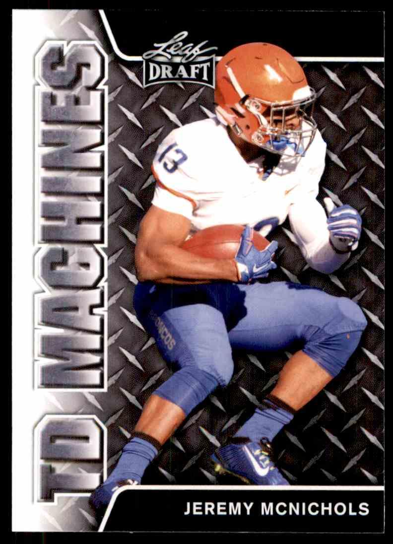 2017 Leaf Draft Jeremy McNichols #TD-10 card front image