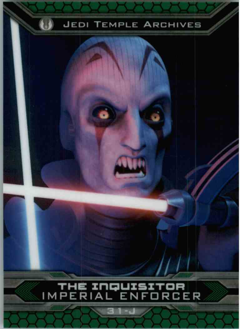 2015 Topps Chrome Star Wars Jedi Temple Archives The Inquisitor #31-J card front image