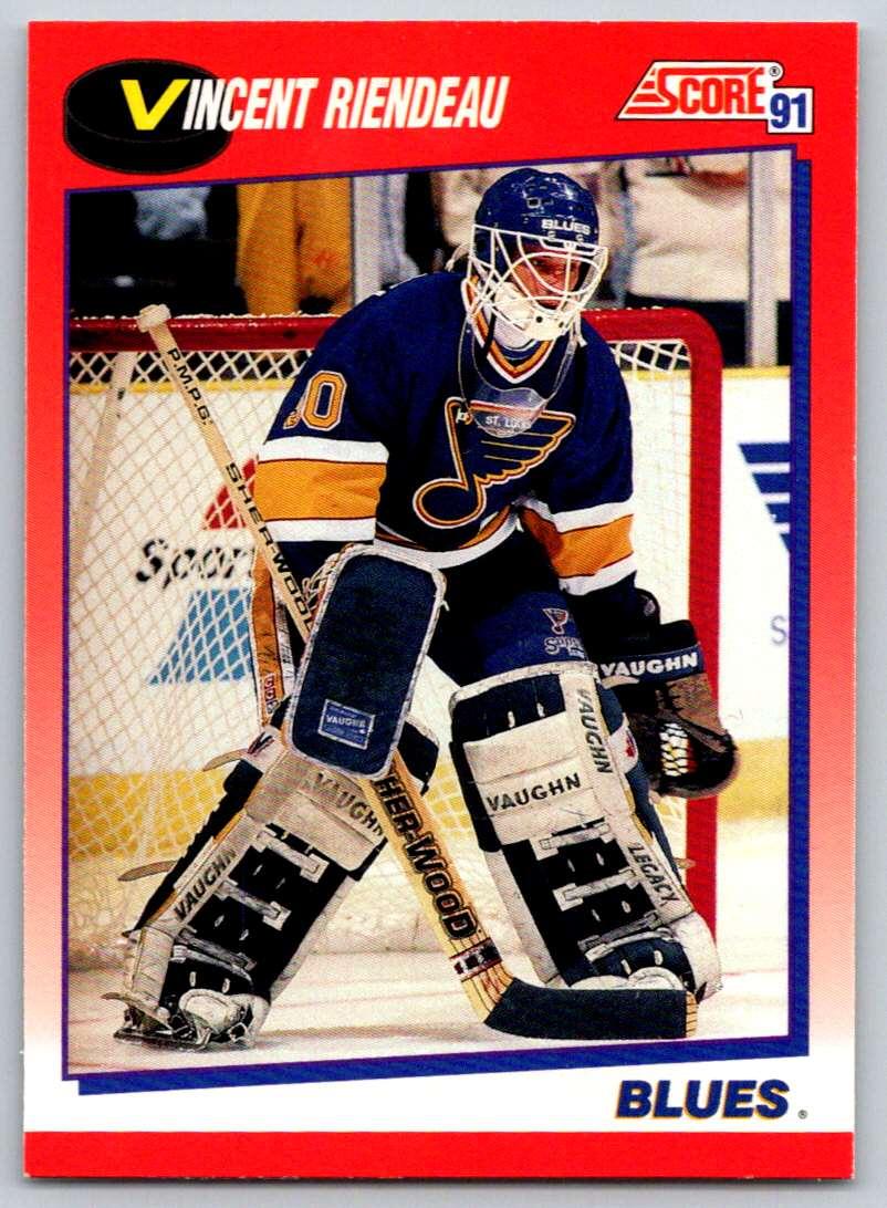 1991-92 Score Canadian Bilingual Vincent Riendeau #23 card front image