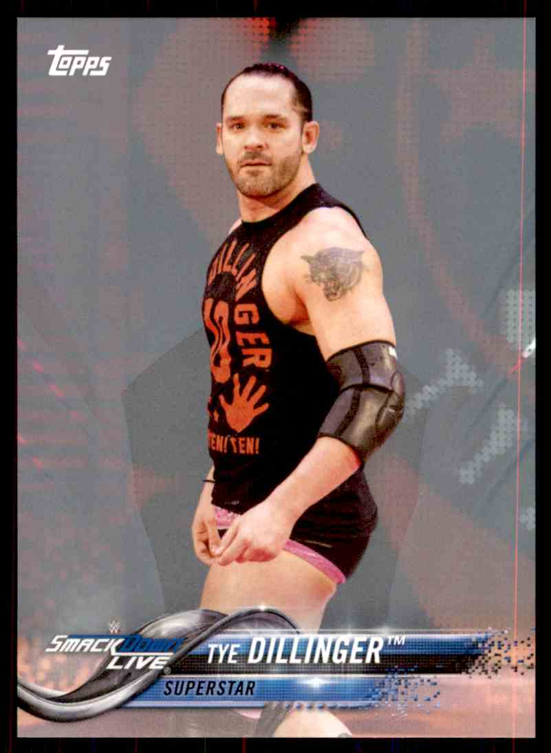 2018 Topps Wwe Then Now Forever Silver Tye Dillinger card front image