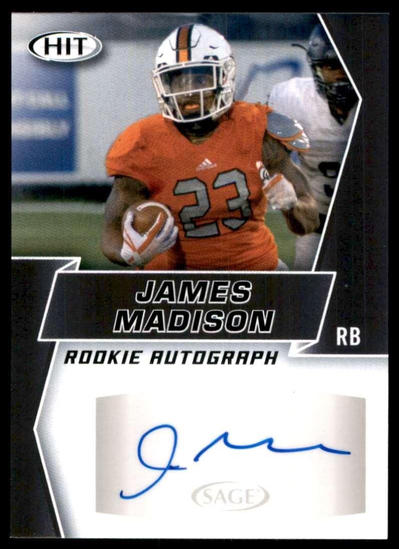 2019 Sage Hit Autographs Black James Madison #A95 card front image